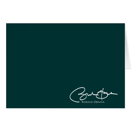 Obama Signature Greeting Card