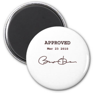 Obama Signs Bill, Health Care Reform March 23 2010 2 Inch Round Magnet