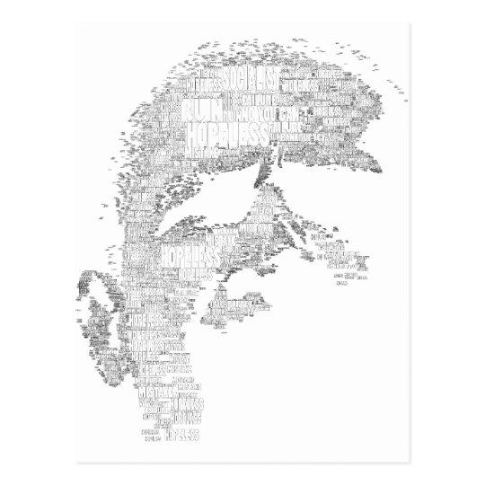 "Obama Silhouette ""Hopeless 2012"" Postcard"