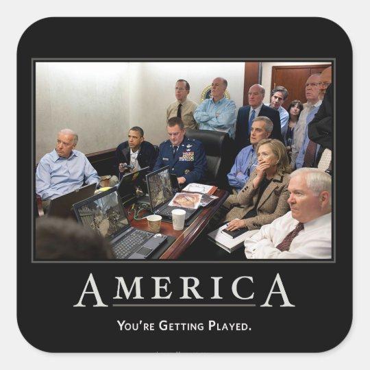 Obama Situation Room Demotivational Sticker Set
