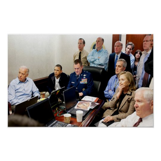 Obama Situation Room Photo bin Laded Killed Poster ... Obama Bin Laden Situation Room