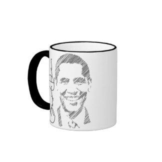 Obama Sketch Coffee Mug