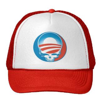 obama skull Cap - RED Trucker Hat