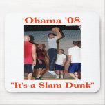 Obama Slam Dunk Mouse Pad