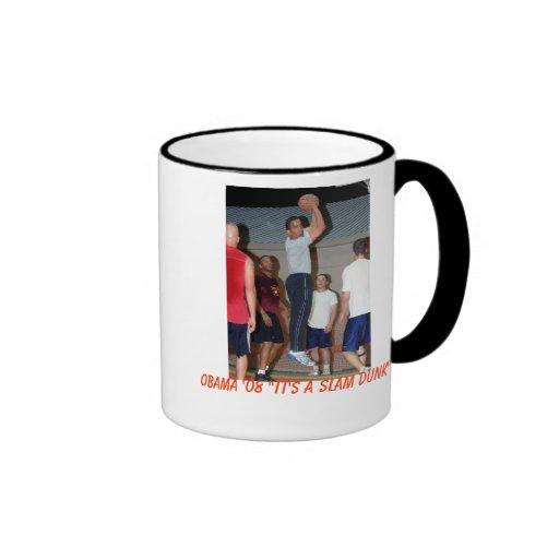 Obama Slam Dunk Ringer Coffee Mug