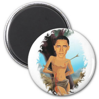 Obama slings and arrows Magnet