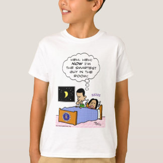 obama smartest guy in the room bed T-Shirt