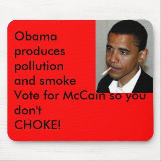 obama_smoking, Obama producespollution and smok... Mouse Mats