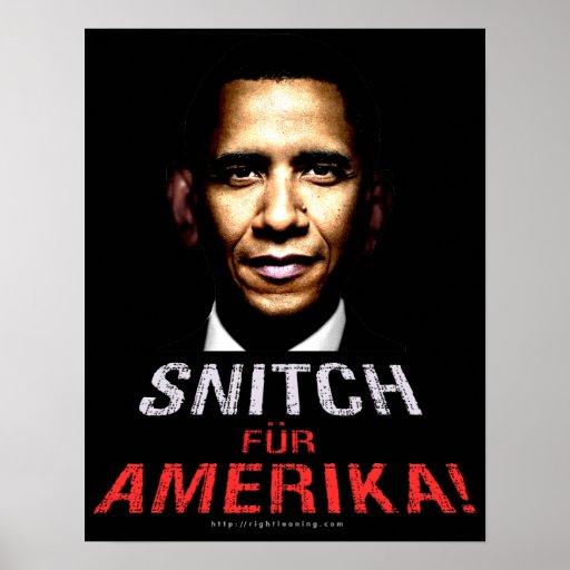 Obama SNITCH Poster