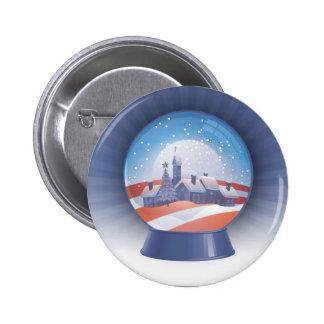 obama snow globe pinback button