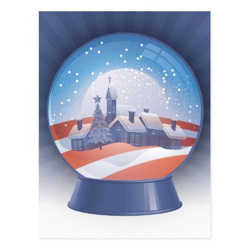 obama snow globe postcard