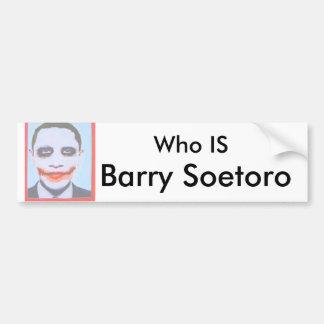 Obama-socialism_0_white, que ES, Barry Soetoro Pegatina Para Auto