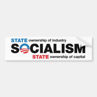 Obama Socialism Bumper Sticker Car Bumper Sticker