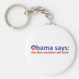 Obama Socialism will work! Keychain