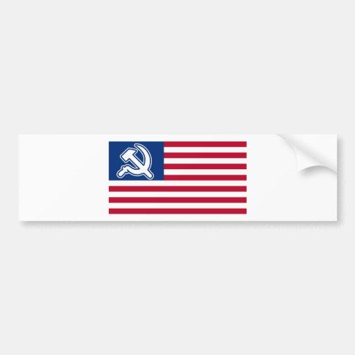 Obama Socialist Flag Car Bumper Sticker