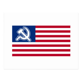 Obama Socialist Flag Postcard