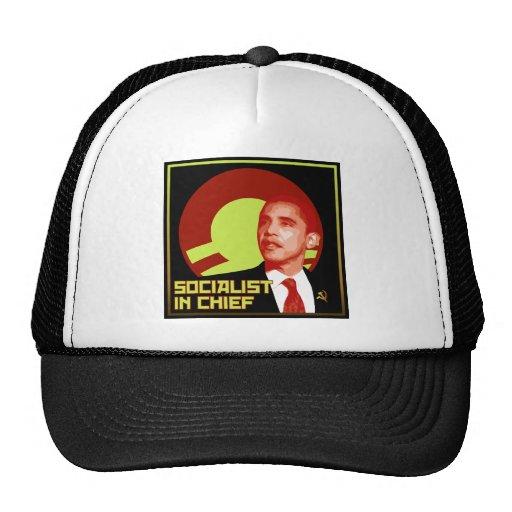 Obama: Socialista en jefe Gorro De Camionero