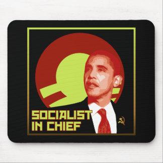 Obama: Socialista en jefe Tapete De Ratones