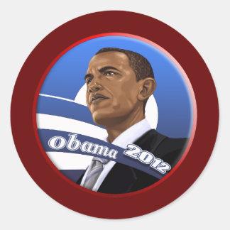Obama sofisticado con clase fresco 2012 pegatina