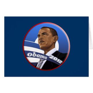 Obama sofisticado con clase fresco 2012 tarjeta de felicitación