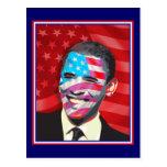 obama - sonrisa presidencial tarjeta postal