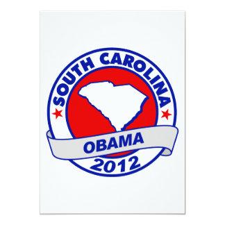 Obama - south carolina 5x7 paper invitation card