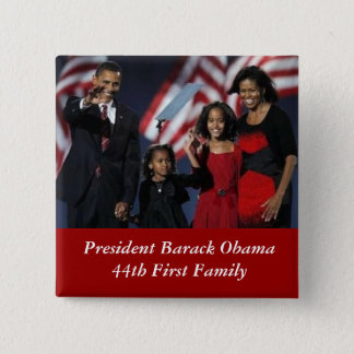 Obama Souvenir Square Button