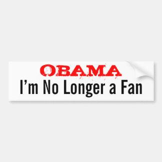 Obama - soy no más un fan pegatina para auto