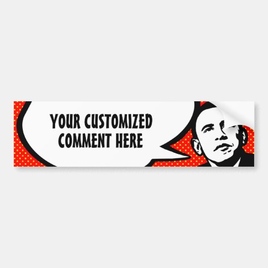 Obama Speaks (personalized) Bumper Sticker