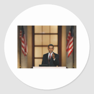 Obama-Speech Classic Round Sticker