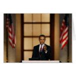 Obama-Speech Greeting Card