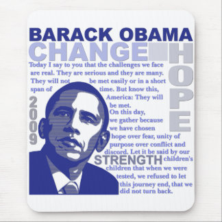 Obama Speech Mouse Pad