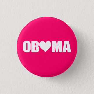 """""""'OBAMA' SPELLED WITH HEART"""" BUTTON"""