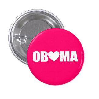 """'OBAMA' SPELLED WITH HEART"" BUTTON"