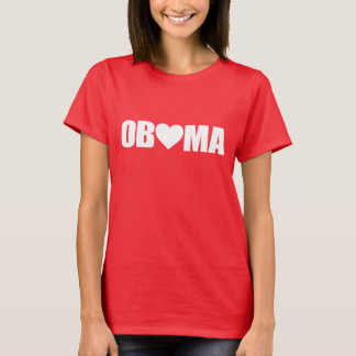 """'OBAMA' SPELLED WITH HEART"" T-Shirt"