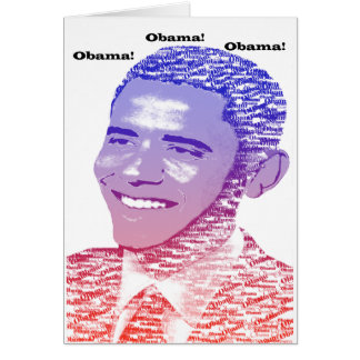 Obama Spirit Greeting Card