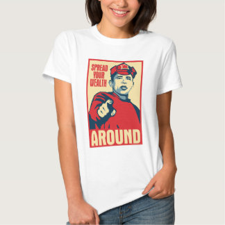 Obama - Spread Your Wealth Around: OHP Ladies Top Tee Shirts