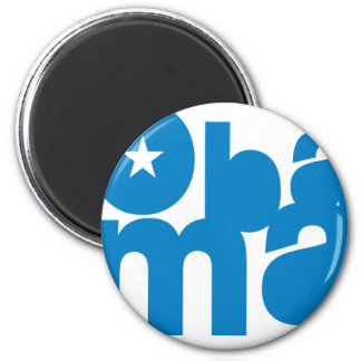Obama square magnet