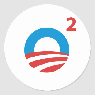 Obama squared classic round sticker