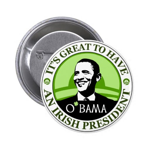Obama St. Patrick's Day Buttons