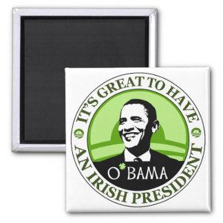 Obama St. Patrick's Day 2 Inch Square Magnet
