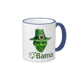 Obama St Patricks Day Ringer Mug