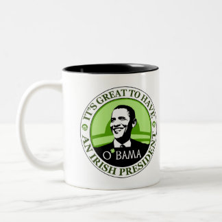 Obama St. Patrick's Day Two-Tone Coffee Mug
