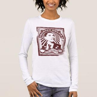 Obama Stamp (Pink) Long Sleeve T-Shirt