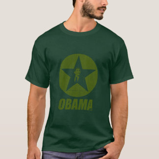 Obama Star Long Sleeve Army T-Shirt