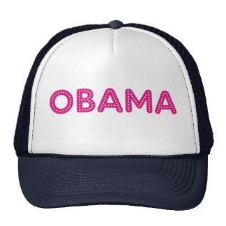 Obama Starry Lights Bling Hat in navy