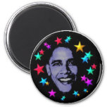 Obama stars 2 inch round magnet