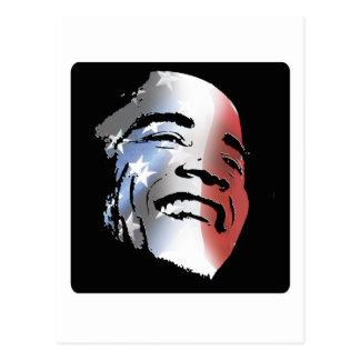 Obama: Stars and Stripes Postcard