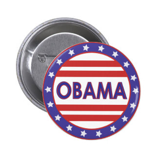 Obama Stars&Stripes Circle 2 Inch Round Button