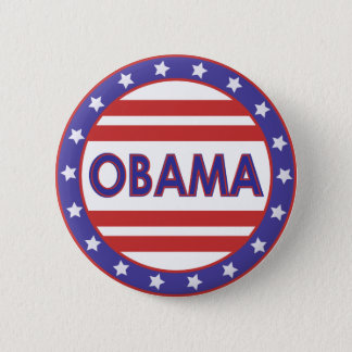 Obama Stars&Stripes Circle Pinback Button